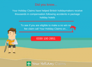 Claim compensation for your hotel accident abroad