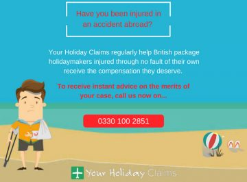 How to claim compensation after an accident on a package holiday