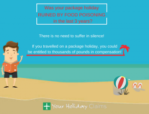 Claim compensation for a package holiday ruined by food poisoning