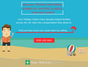 Claim compensation for gastric illness on Thomas Cook holiday