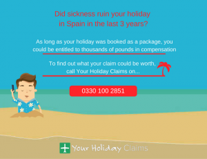 Suffered sickness on holiday in Spain? Claim today!