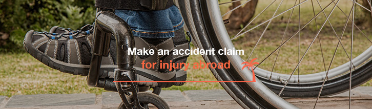 Make an accident claim for injury abroad