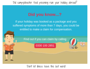 Start your campylobacter holiday claim with YourHolidayClaims