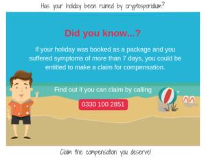 Advice on making a cryptosporidium claim