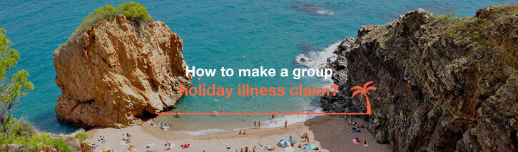 How to make a group holiday illness claim?