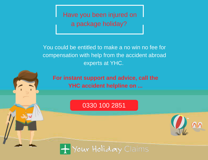 Claim compensation for injury on a package holiday