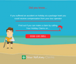Make holiday accident claim against tour operator