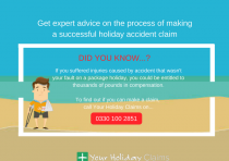 What is the process for making a holiday accident claim?