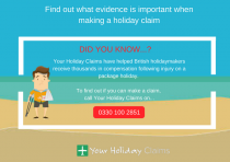 Infographic: Important evidence when making a holiday accident claim